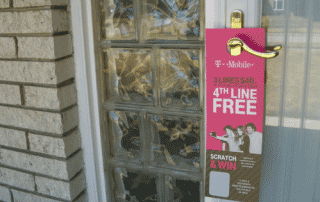 doorhangers are a great use of front-door marketing