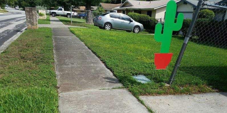 Google yard sign