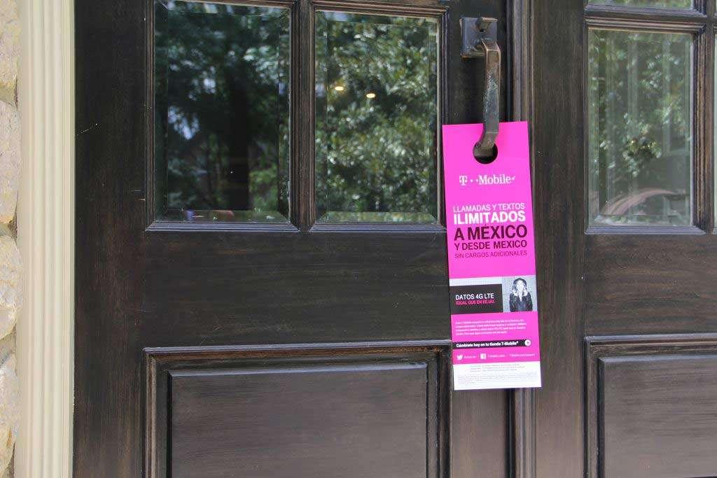 example of hispanic door hanger on door