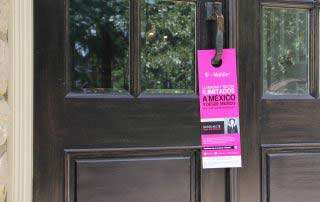 example of hispanic door hanger on door