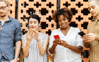 millennials engaging with electronic media