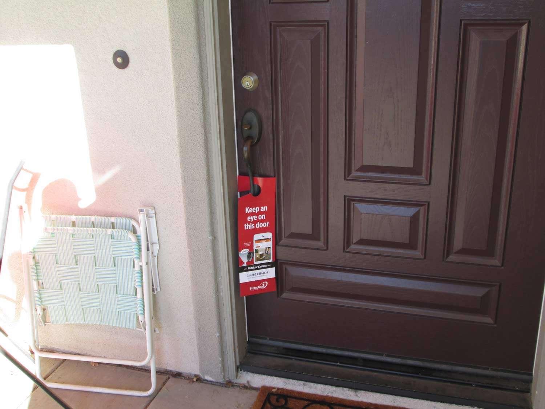 red door hanger on a door