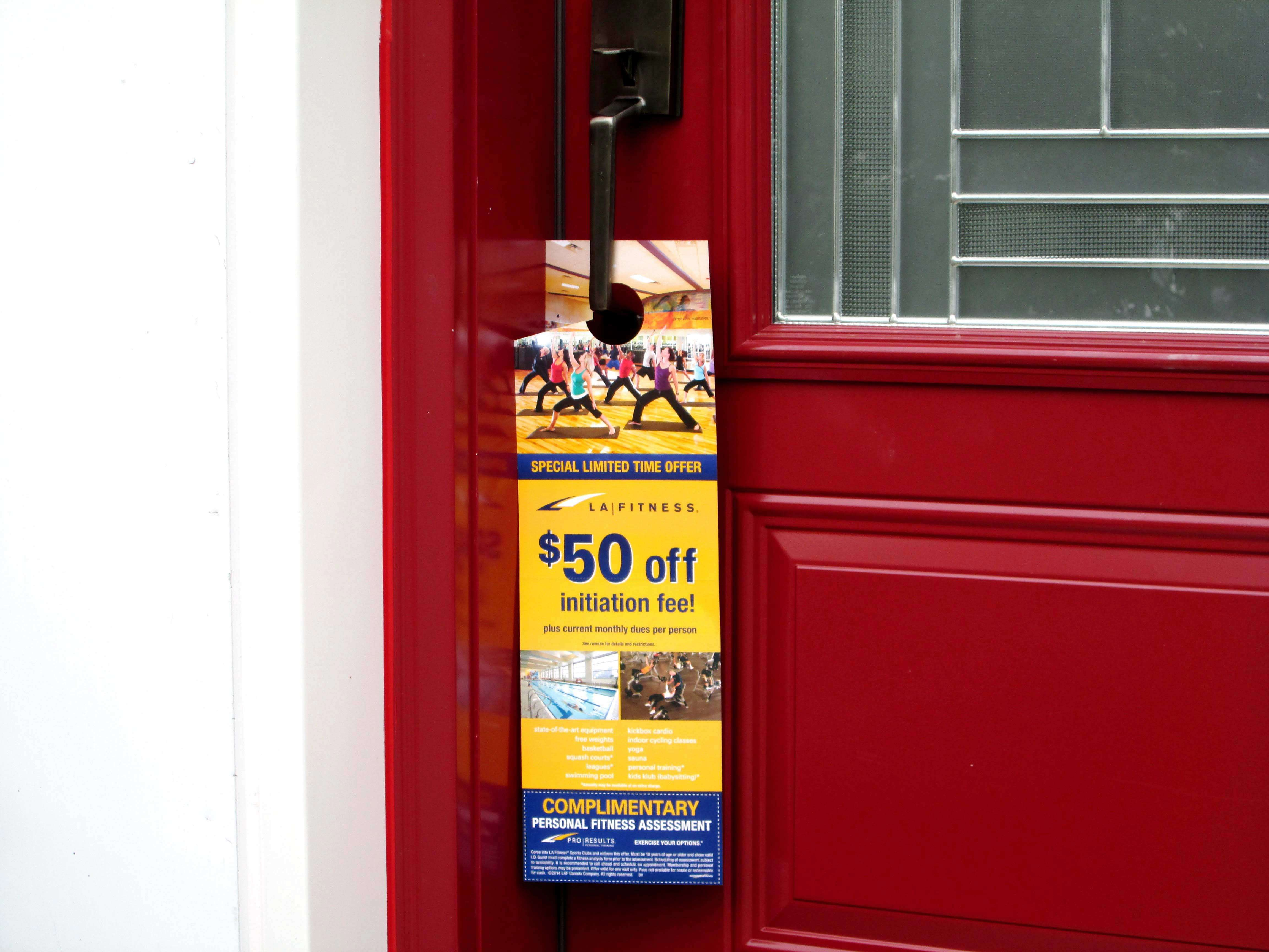 Limited time offer door hanger design
