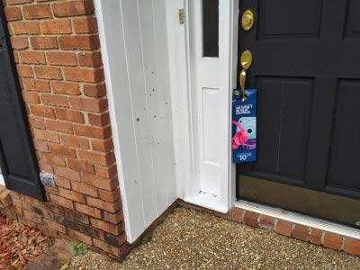 Best Buy door hanger on door