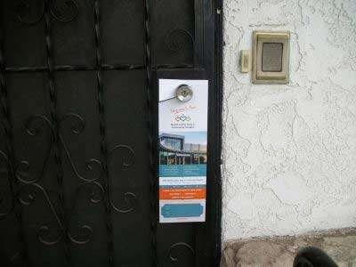Door hanger for hospital
