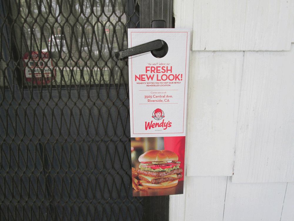front door marketing media for Wendy's
