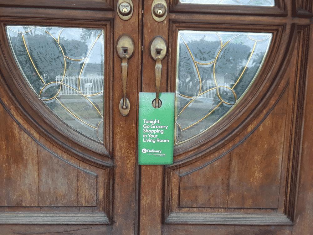 green front door marketing media piece