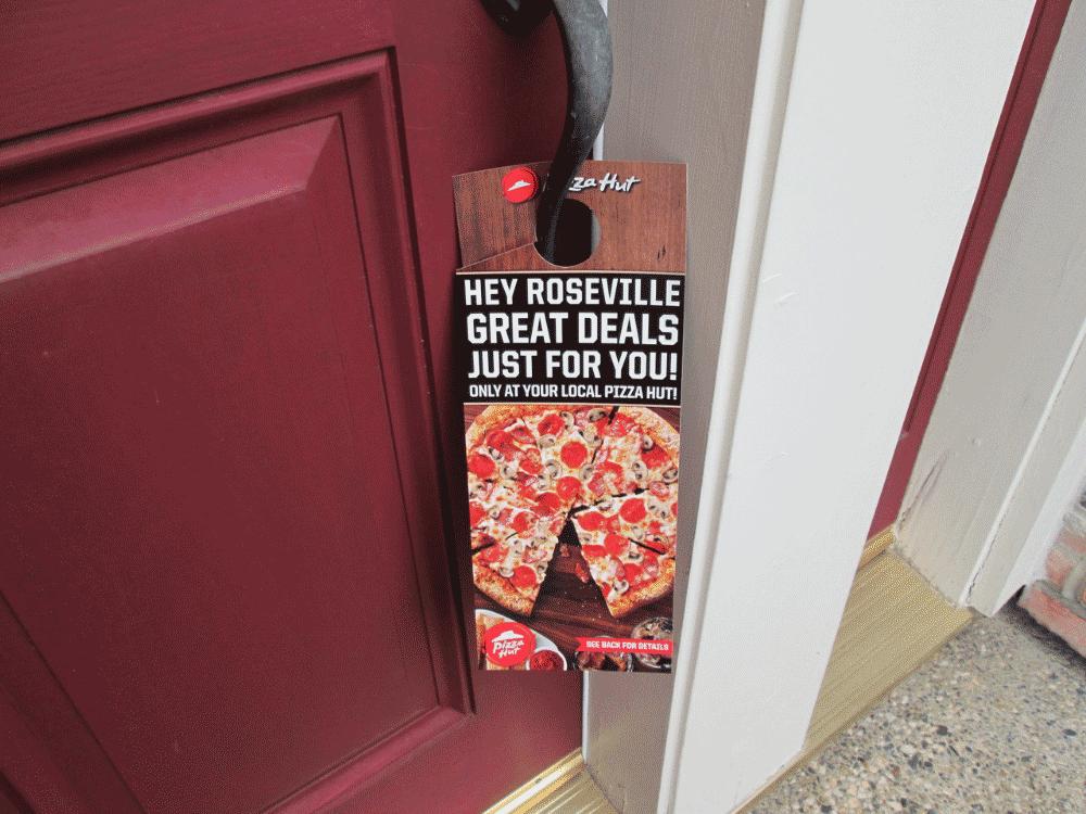 front door marketing media for Pizza Hut