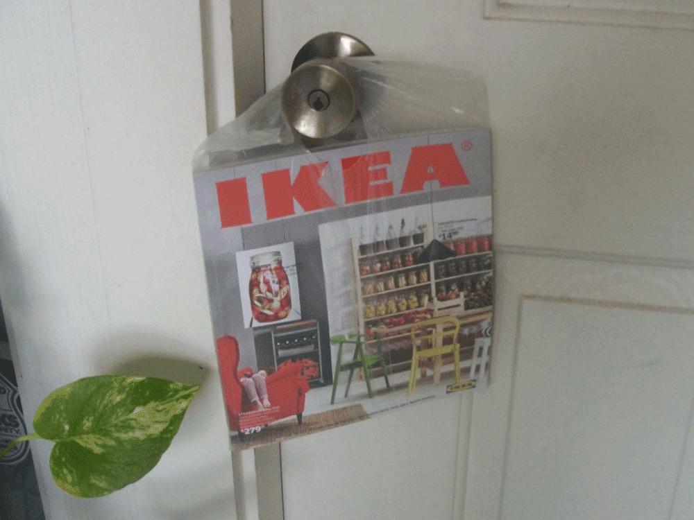 front door marketing media for IKEA
