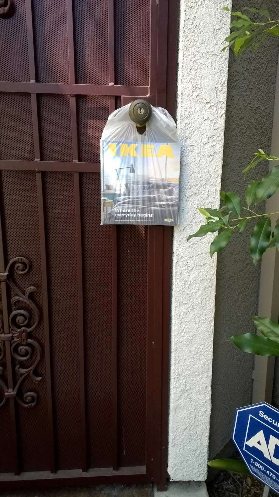 IKEA bag on a door
